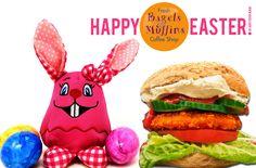 #HappyEaster to you :-) Frohe Ostern wünscht Dir das Fresh Bagels & Muffins  #bagelshop #burgerbagel www.bagelshop.de