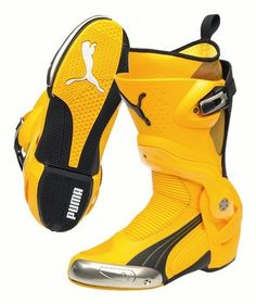 917bed1cc5e665 Puma 1000 V2 Racing Motorcycle Boots Yellow Last Pairs Brand New