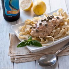 Beer Chicken Piccata. Simple and delicious. Perfect weeknight meal!