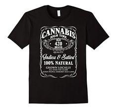 Men's JP.Shirt: Funny Wine Shirts – Cannabis Wine Addicted Shirt XL Black