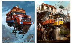 Looking for similar pins? Follow me! http://kohlsson.link/1W5N6ws   kevinohlsson.com Alejandro Burdisio's view of a vintage future afloat. Text isn't English but the pictures speak for themselves.