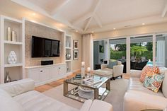 Built in tv shelf living room transitional with white ceiling built in cabinets