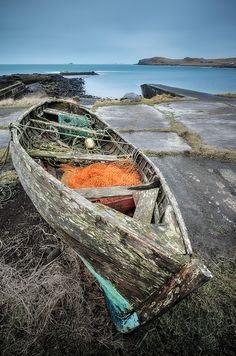 Weathered,worn,neglected  Boat, .. Guy Edwardes