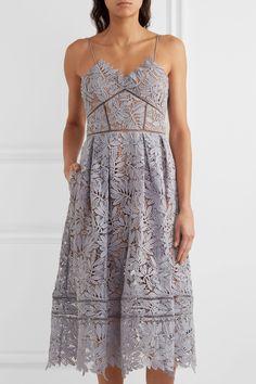 Self-Portrait | Laelia guipure lace midi dress | NET-A-PORTER.COM