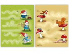 Werkblad motoriek: Kabouters Magazines For Kids, Illustrators, Worksheets, Musicals, Preschool, Fairy, Education, Kabob, Creative