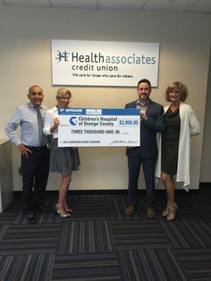 With the help of partner Health Associates Credit Union, Autoland provided its third quarter charitable grant to Children's Hospital of Orange County!