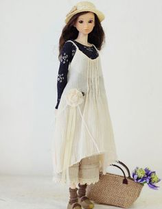 Sugarbabylove - Natural Dress set for momoko
