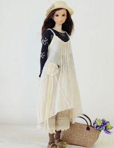 Sugarbabylove  Natural Dress set for momoko by SugarbabyloveDoll