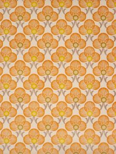 Vintage retro wallpaper with small pattern in orange color