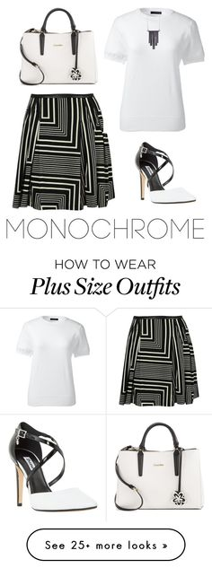 """""""monochrome"""" Outfit and on Polyvore featuring Calvin Klein, Lands' End, Ariko, Dune and monochrome"""
