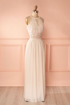Tycennia Light Pink Prom Dress with Crystals | Boutique 1861