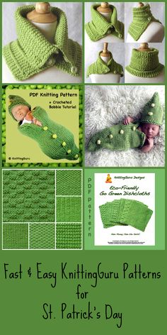 Click on the image to go to my blog, Find your discount code there for my St. Patrick's Day Sale on these patterns through March 31st. Happy St. Patrick's Day from KnittingGuru!