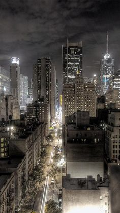A Gogel Auto Sales rePin. See us for used car purchase you can count on.  NYC. Manhattan night view: Looking east down W. 45th Street