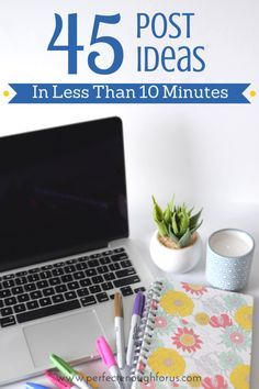 Stuck finding ideas for your blog? Don't know where to start? Here's a way to come up with 45 different post ideas for your blog in just a few minutes.
