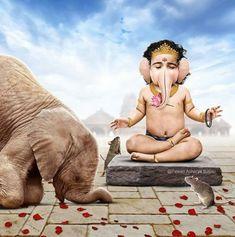 God Of Knowledge, Danti, Elephant Face, Acts Of Love, Hindu Dharma, Ganesha Painting, Good Luck, Nature Wallpaper, Shiva