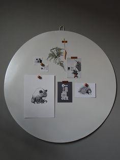 magneetbord wit VTwonen 80 cm doorsnede