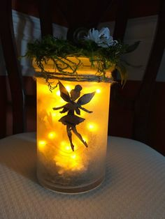 Your place to buy and sell all things handmade Mason Jar Crafts, Mason Jars, Fairy Jars, Diy Hacks, Battery Operated, Glass Jars, Dried Flowers, Garden Art, Night Light