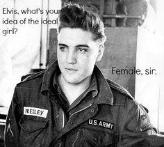 What Elvis said at an actual interview ...  Gotta love him