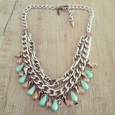 Collar Mint! no puede ser mas lindo! ️️Shop Now: www.laquedivas.com.ar ||| ️Suma Laquedivas a tu Local: info@laquedivas.com.ar