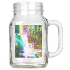 Rainbow Girl Garden Mason Jar