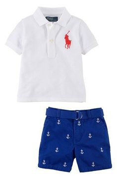 Ralph Lauren Polo & Shorts - outfit for B with boat shoes? nautical but not an embarassing sailor outfit :)