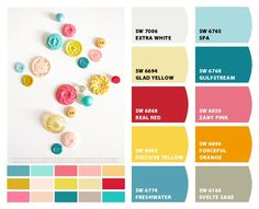 Painted rosettes to hang on the wall in these colors if we are renting!