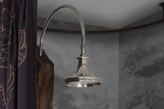 Trumpet nickel shower head Shower Heads, Trumpet, Track Lighting, Showers, Copper, Ceiling Lights, Bathroom, Washroom, Trumpets