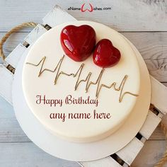 Love Birthday Cake with Name Generator - eNameWishes Happy Birthday Cake Images, Beautiful Birthday Cakes, Birthday Cake Designs, Happy Birthday Dear, Cupcakes, Cupcake Cakes, Birthday Cake For Boyfriend, Birthday Cake Write Name, Birthday Surprise For Husband