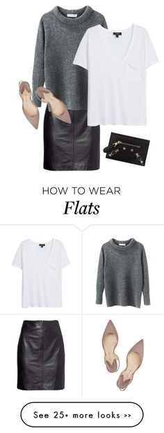 MINIMAL + CLASSIC: nude flats with grey + black- H&M, Etoile Isabel Marant, MANGO, Paul Andrew and Balenciaga
