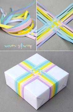 Leuk idee om een cadeautje in te pakken!