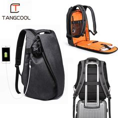 7aa8a96a029a Tangcool Fashion Men Backpack for Laptop 17.3