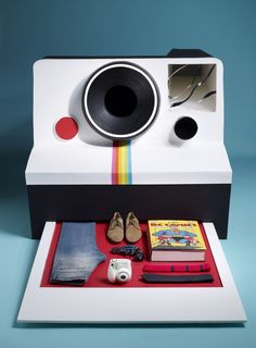 Vintage inspired polaroid cameras prints clothes