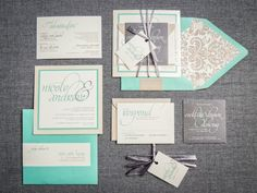 Beach Wedding Invitations Tiffany Blue Invites by JulieHananDesign