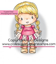 *New C.C. Designs Swiss Pixie Love Lucy Clear Stamp - Click Image to Close
