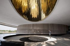 The Oculus projects a circle of light on the entrance plaza at the Shanghai Astronomy Museum. Bamboo Structure, Steel Structure, Shanghai, New York Studio, New Museum, Ground Floor Plan, Main Entrance, Interstellar, Dezeen