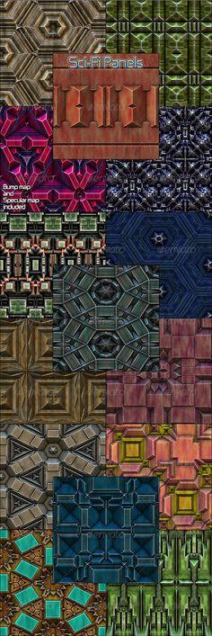 Sci-Fi Panels - Seamless Patterns - Patterns Backgrounds