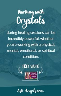 """"""" Working with crystals during healing sessions can be incredibly powerful, whether you're working with a physical, mental, emotional, or spiritual condition."""""""