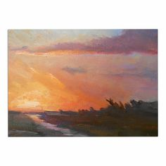 KESS InHouse Carol Schiff 'Golden Hour Over The Marsh' Orange Watercolor Dog Place Mat, 13' x 18' *** Insider's special review you can't miss. Read more  : Dog food container
