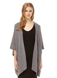 Community IONIC CAPE $75 Online Exclusive Casual cape-like perfection fashioned from a soft cotton-blend yarn
