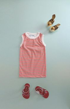 Striped Tank Persimmon/Ecru NOW 30% OFF!