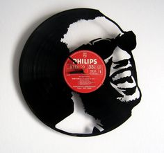 I MUST have this! Awesome hand cut Ray Charles record clock by Funkyvinyl on Etsy, €40.00