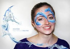 DOLPHINS Face Painting by Silvia Vitali