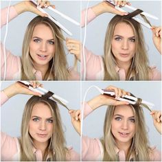 Practice with the flat iron turned off | How to Get Loose Curls Without Going to The Salon