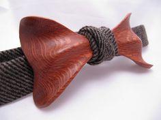 Wood Bow Tie by Ella Bing
