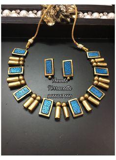 Terracotta Jewellery Making, Terracotta Jewellery Designs, Terracotta Earrings, Antique Jewellery Designs, Handmade Jewelry Designs, Ceramic Jewelry, Polymer Clay Jewelry, Teracotta Jewellery, Jewelry Design Drawing