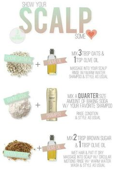 Home remedies for a dry scalp. Oh how I wish I could go get a scalp massage♡