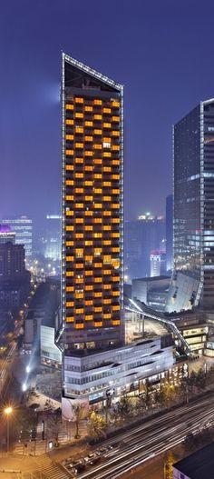 Yanlord Landmark, Fraser Suites Chengdu, China by NBBJ Architects :: 40 floors, height 164m