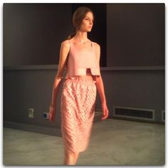Feminine looks in luxe leather at the first runway show for Tod's  #mfw  #fashionweek