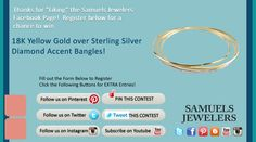 I just entered the Samuels Jewelers' 'Celebrate Back to School' Contest. Click this Pin to see how to enter to win a  18K Yellow Gold over Sterling Silver, Diamond Accent Bracelet
