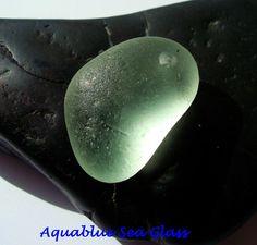 Drilled ENGLISH Sea Glass  LARGE Sea Foam  by aquablueseaglass, $13.00